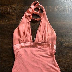 Bebe pink halter top
